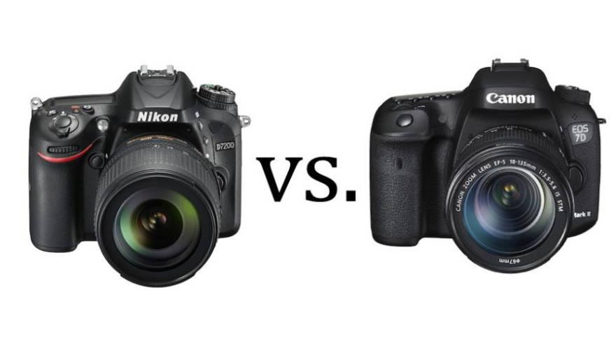 Zweikampf zwischen Nikon und Canon