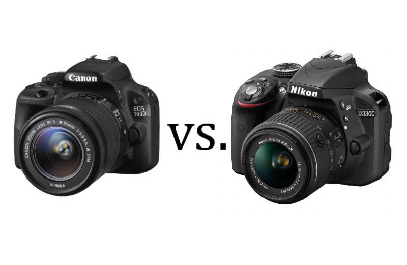 Zweikampf zwischen Canon EOS 100D und Nikon D3300